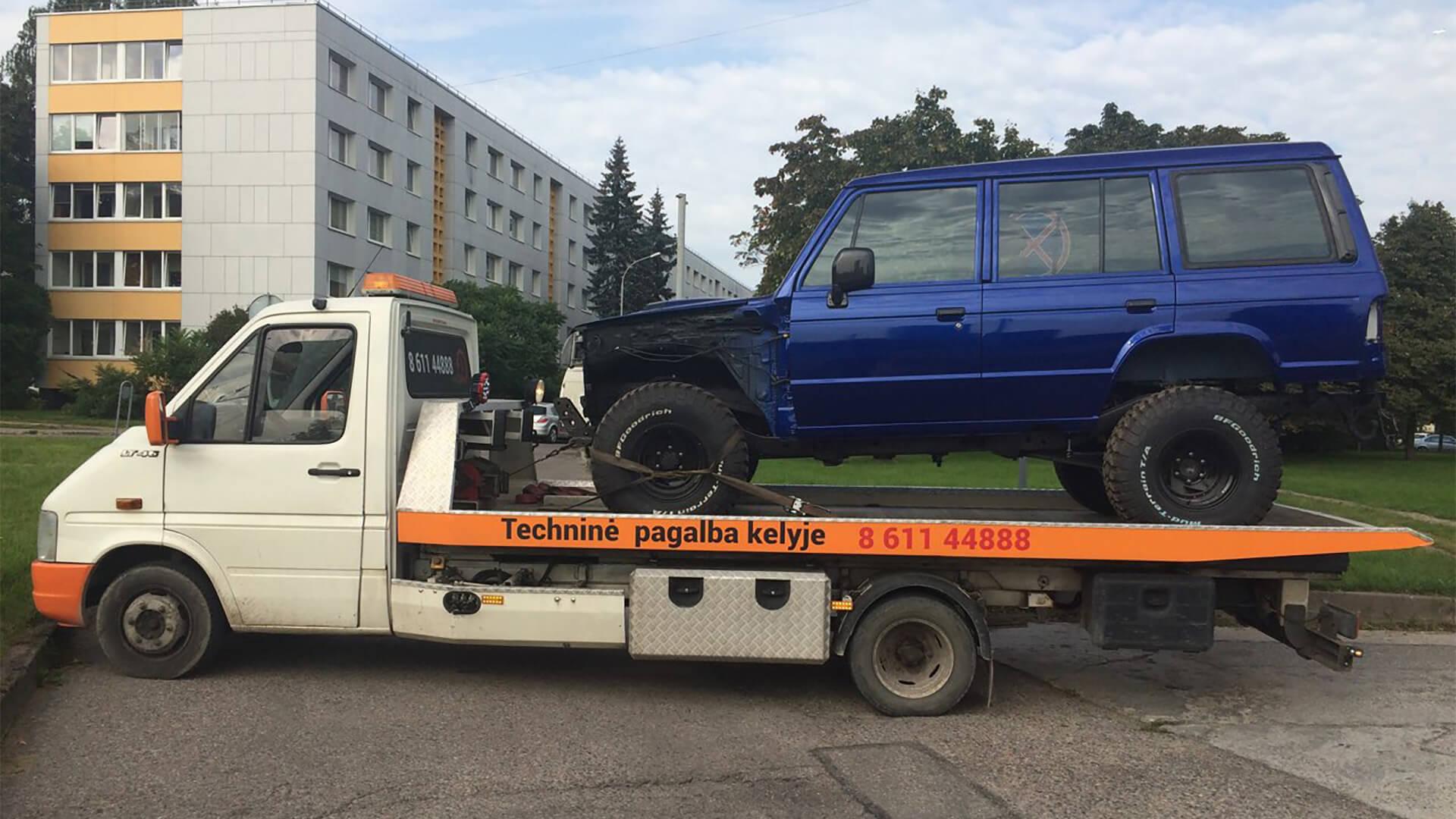 Tralo paslaugos techninė pagalba kelyje visa para 24 7 visoje Lietuvoje Vilniuje